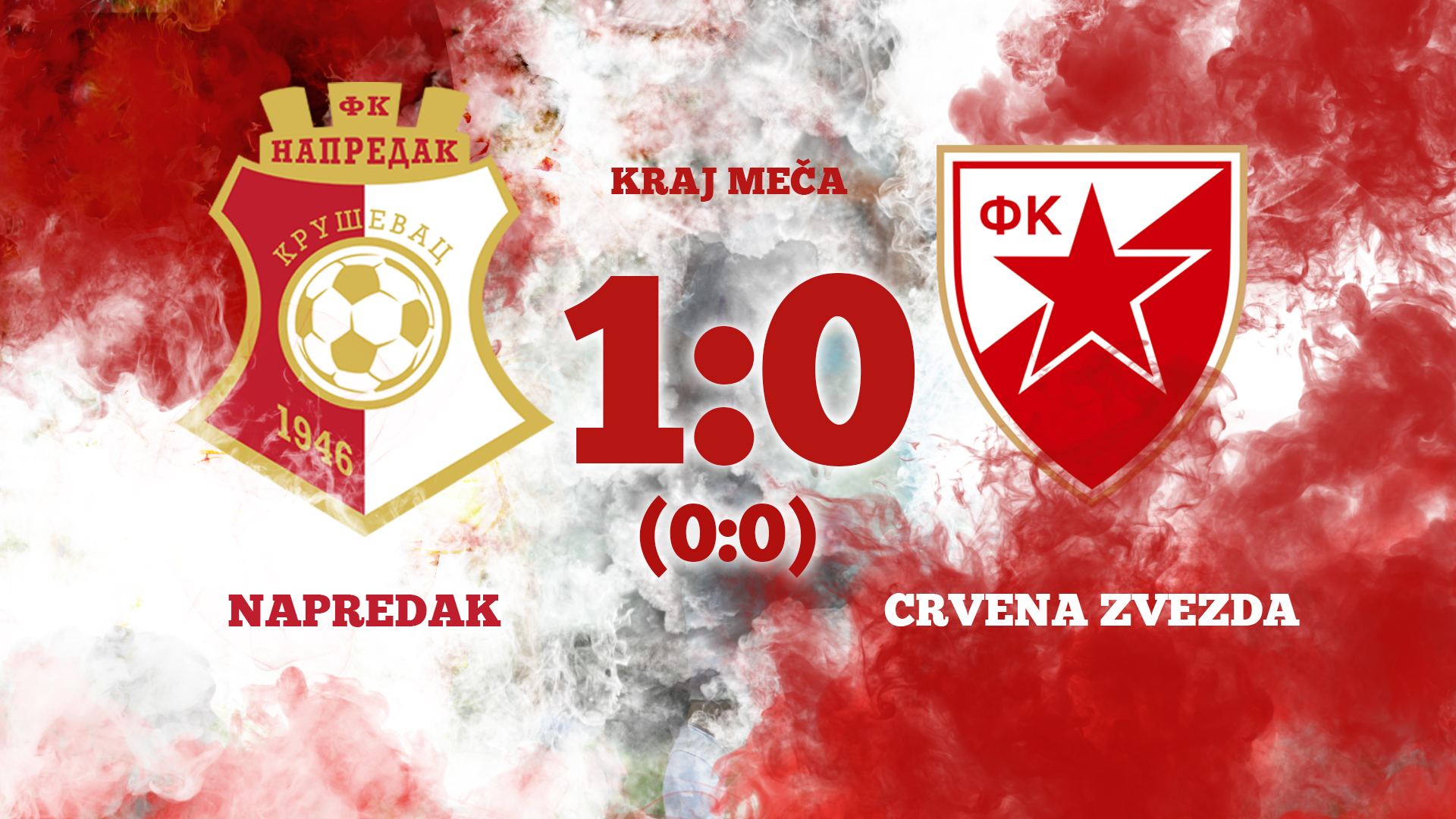 Napredak F.C - Red Star F.C 1:0