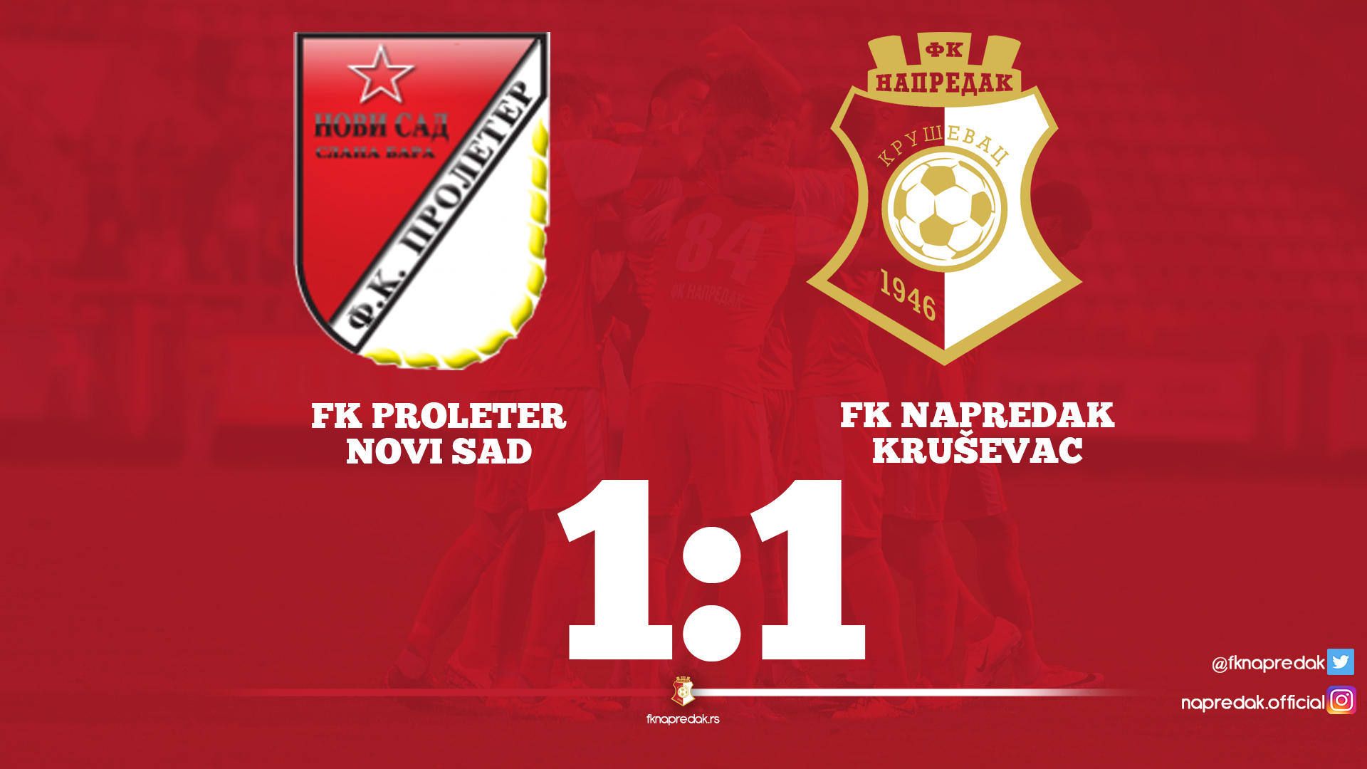 Proleter F.C-Napredak F.C. 1-1