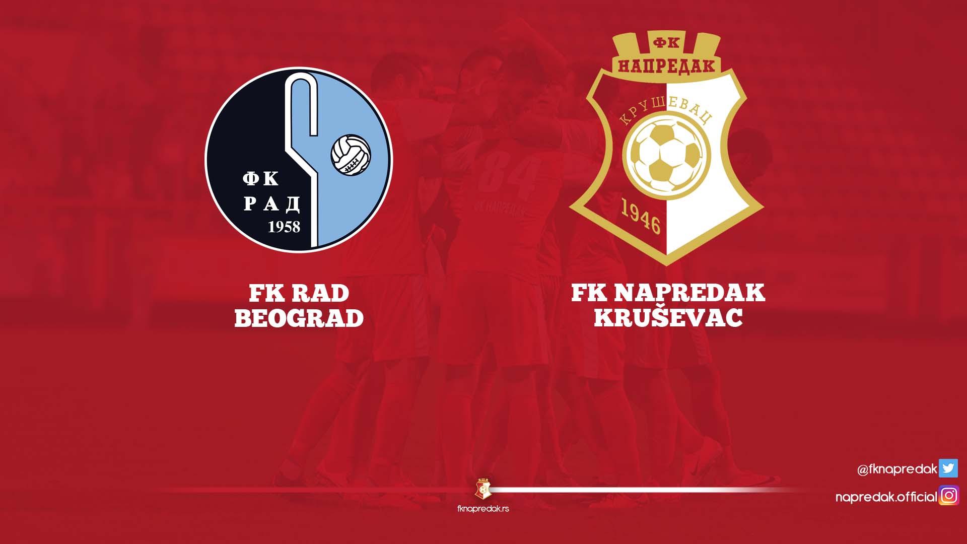 Rad F.C. - Napredak F.C. 0:2