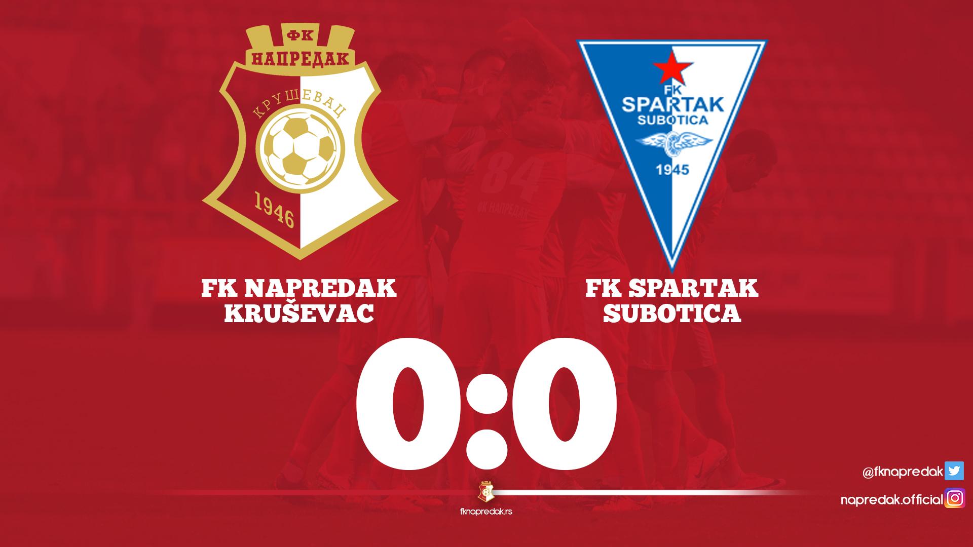 Napredak F.C.-Spartak F.C. - 0:0